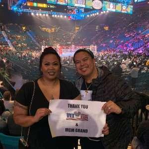 Bunmoy attended Premier Boxing Champions: Wilder vs. Ortiz II on Nov 23rd 2019 via VetTix