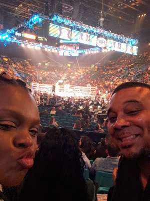 Armour attended Premier Boxing Champions: Wilder vs. Ortiz II on Nov 23rd 2019 via VetTix