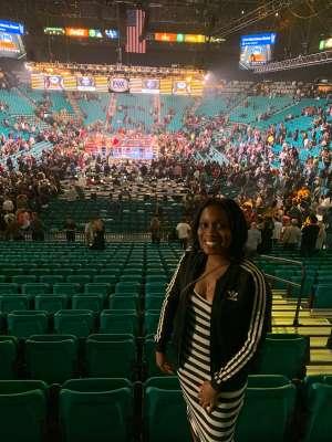 Whitney attended Premier Boxing Champions: Wilder vs. Ortiz II on Nov 23rd 2019 via VetTix