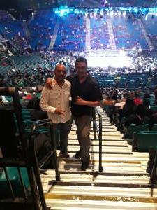 Harvey attended Premier Boxing Champions: Wilder vs. Ortiz II on Nov 23rd 2019 via VetTix