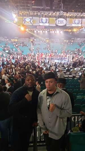 Angelo attended Premier Boxing Champions: Wilder vs. Ortiz II on Nov 23rd 2019 via VetTix