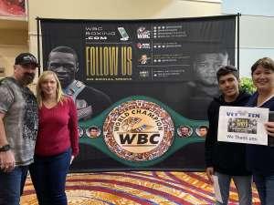 Jennifer attended Premier Boxing Champions: Wilder vs. Ortiz II on Nov 23rd 2019 via VetTix