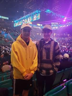 James attended Premier Boxing Champions: Wilder vs. Ortiz II on Nov 23rd 2019 via VetTix