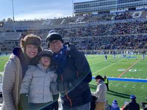 James attended Air Force Academy Falcons vs. University of Wyoming Cowboys - NCAA Football on Nov 30th 2019 via VetTix