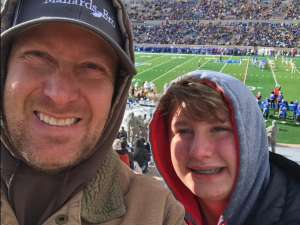 Timothy attended Air Force Academy Falcons vs. University of Wyoming Cowboys - NCAA Football on Nov 30th 2019 via VetTix