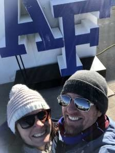 Cherie attended Air Force Academy Falcons vs. University of Wyoming Cowboys - NCAA Football on Nov 30th 2019 via VetTix