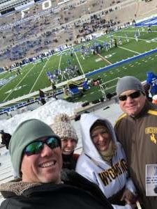 Michael attended Air Force Academy Falcons vs. University of Wyoming Cowboys - NCAA Football on Nov 30th 2019 via VetTix