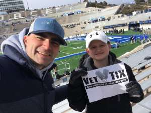 Justin attended Air Force Academy Falcons vs. University of Wyoming Cowboys - NCAA Football on Nov 30th 2019 via VetTix