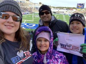 Benny attended Air Force Academy Falcons vs. University of Wyoming Cowboys - NCAA Football on Nov 30th 2019 via VetTix