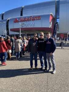 Dale attended Arizona Cardinals vs. Los Angeles Rams - NFL on Dec 1st 2019 via VetTix