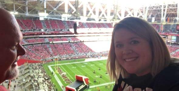 Brittany attended Arizona Cardinals vs. Los Angeles Rams - NFL on Dec 1st 2019 via VetTix