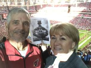 Barry attended Arizona Cardinals vs. Los Angeles Rams - NFL on Dec 1st 2019 via VetTix