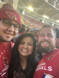 Alonzo attended Arizona Cardinals vs. Los Angeles Rams - NFL on Dec 1st 2019 via VetTix