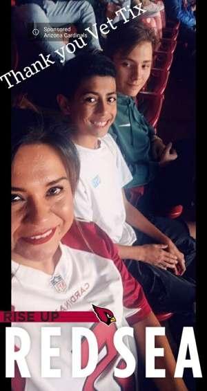 Richard attended Arizona Cardinals vs. Los Angeles Rams - NFL on Dec 1st 2019 via VetTix
