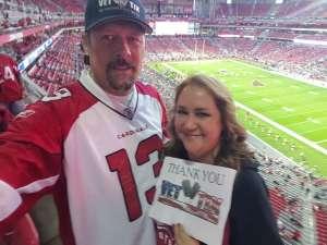 Timothy attended Arizona Cardinals vs. Los Angeles Rams - NFL on Dec 1st 2019 via VetTix