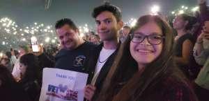 Andres attended The Chainsmokers/5 Seconds of Summer/lennon Stella: World War Joy Tour on Nov 26th 2019 via VetTix