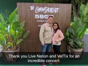 Paul attended The Chainsmokers/5 Seconds of Summer/lennon Stella: World War Joy Tour on Nov 26th 2019 via VetTix
