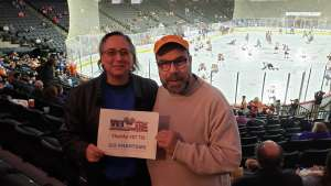 John attended Lehigh Valley Phantoms vs. Hartford Wolfpack - AHL on Nov 30th 2019 via VetTix