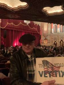 Gerard attended The Illusionists - Magic of the Holidays (touring) on Nov 29th 2019 via VetTix