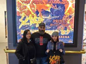 Joe attended Slayer the Final Campaign at MGM Grand Garden Arena on Nov 27th 2019 via VetTix
