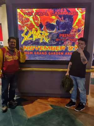 Carlos attended Slayer the Final Campaign at MGM Grand Garden Arena on Nov 27th 2019 via VetTix
