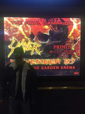 Damian attended Slayer the Final Campaign at MGM Grand Garden Arena on Nov 27th 2019 via VetTix