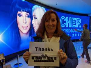 Lynn attended Cher: Here We Go Again Tour on Nov 27th 2019 via VetTix