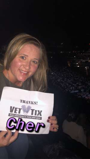 John attended Cher: Here We Go Again Tour on Dec 4th 2019 via VetTix
