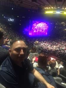 Louis attended Cher: Here We Go Again Tour on Dec 4th 2019 via VetTix