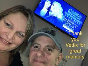 Patrick attended Cher: Here We Go Again Tour on Dec 4th 2019 via VetTix