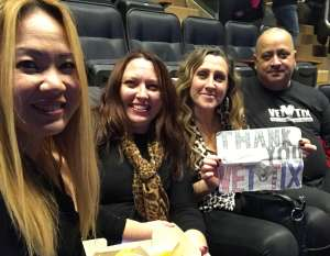 Reno attended Cher: Here We Go Again Tour on Dec 4th 2019 via VetTix