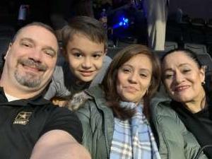 Donald attended Disney on Ice Presents Celebrate Memories on Feb 13th 2020 via VetTix