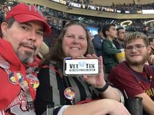 Robert attended Cleveland Cavaliers vs. Milwaukee Bucks - NBA on Nov 29th 2019 via VetTix