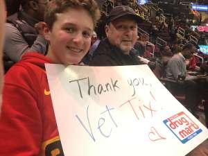 Gregoy  United States Airf Force attended Cleveland Cavaliers vs. Milwaukee Bucks - NBA on Nov 29th 2019 via VetTix