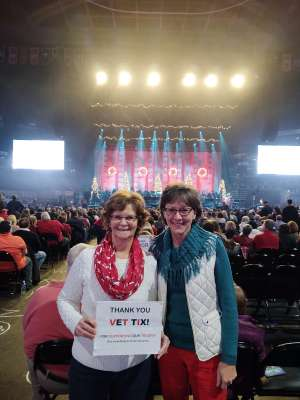 Francis attended Amy Grant & Michael W. Smith on Dec 1st 2019 via VetTix