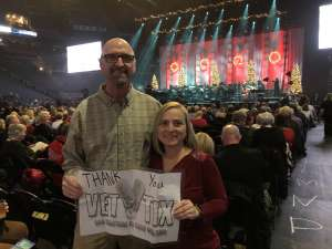 Larry attended Amy Grant & Michael W. Smith on Dec 1st 2019 via VetTix