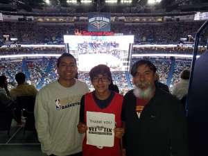 Carlos attended New Orleans Pelicans vs. Oklahoma City Thunder - NBA on Dec 1st 2019 via VetTix