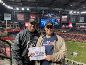 M.Hernandez attended 2019 Cheez-it Bowl: Air Force Academy Falcons vs. Washington State Cougars on Dec 27th 2019 via VetTix