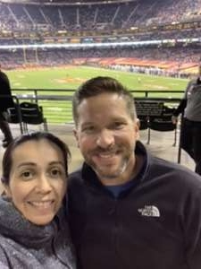 Melissa attended 2019 Cheez-it Bowl: Air Force Academy Falcons vs. Washington State Cougars on Dec 27th 2019 via VetTix