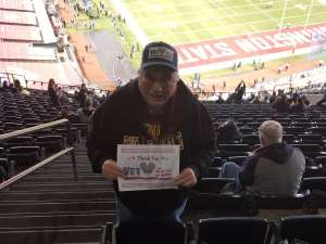 Ronald attended 2019 Cheez-it Bowl: Air Force Academy Falcons vs. Washington State Cougars on Dec 27th 2019 via VetTix