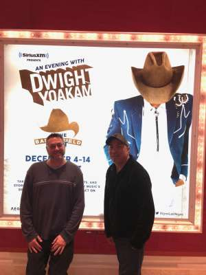 Alvin attended SiriusXM Presents an Evening With Dwight Yoakam & the Bakersfield Beat on Dec 4th 2019 via VetTix