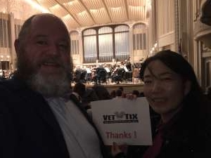 Thomas attended Bronfman Plays Mozart - Presented by the Cleveland Orchestra on Jan 9th 2020 via VetTix