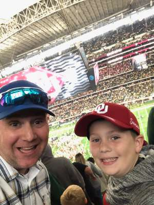 Johnathan attended Big 12 Championship: Oklahoma Sooners vs. Baylor Bears - NCAA Football on Dec 7th 2019 via VetTix