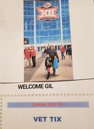 Gil attended Big 12 Championship: Oklahoma Sooners vs. Baylor Bears - NCAA Football on Dec 7th 2019 via VetTix