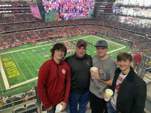 James attended Big 12 Championship: Oklahoma Sooners vs. Baylor Bears - NCAA Football on Dec 7th 2019 via VetTix