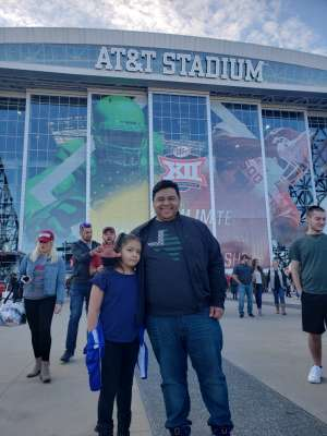 Ramiro attended Big 12 Championship: Oklahoma Sooners vs. Baylor Bears - NCAA Football on Dec 7th 2019 via VetTix
