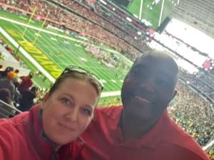 Katherine attended Big 12 Championship: Oklahoma Sooners vs. Baylor Bears - NCAA Football on Dec 7th 2019 via VetTix