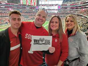 Christopher attended Big 12 Championship: Oklahoma Sooners vs. Baylor Bears - NCAA Football on Dec 7th 2019 via VetTix