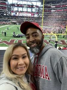 Andrea Patterson attended Big 12 Championship: Oklahoma Sooners vs. Baylor Bears - NCAA Football on Dec 7th 2019 via VetTix