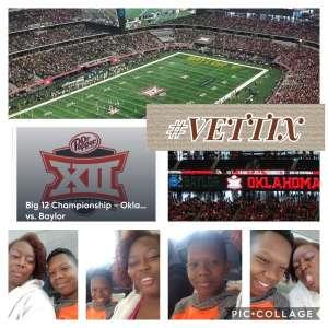 Lydia attended Big 12 Championship: Oklahoma Sooners vs. Baylor Bears - NCAA Football on Dec 7th 2019 via VetTix